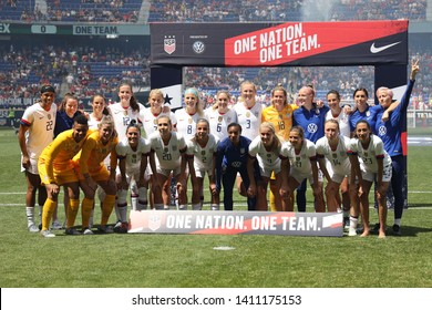 """HARRISON, NJ - MAY 26, 2019: U.S. Women's World Cup Team Send-Off Celebration for 2019 Women""""s World Cup on Red Bull Arena in Harrison, NJ."""