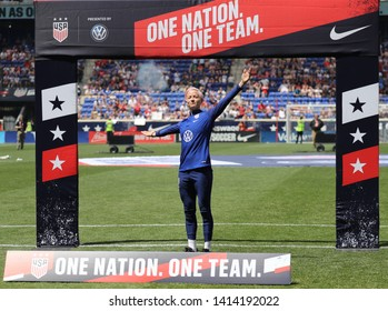 "HARRISON, NJ - MAY 26, 2019: U.S. Women's National Soccer Team forward Megan Rapinoe #15 during Send-Off Celebration for 2019 Women""s World Cup on Red Bull Arena in Harrison, NJ."