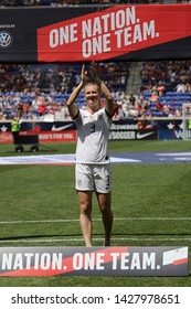 HARRISON, NJ - MAY 26, 2019: U.S. Women's National Soccer Team midfielder Samantha Mewis #3 during Send-Off Celebration for 2019 Women's World Cup in Harrison, NJ after friendly game against Mexico