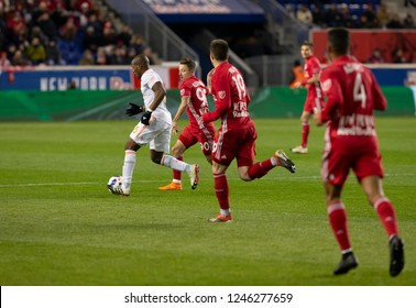 Harrison, NJ - November 29, 2018: Darlington Nagbe (6) of Atlanta United controls ball during 2nd leg MLS Cup Eastern Conference final against Red Bulls at Red Bull Arena United won 3 - 1 on agregate