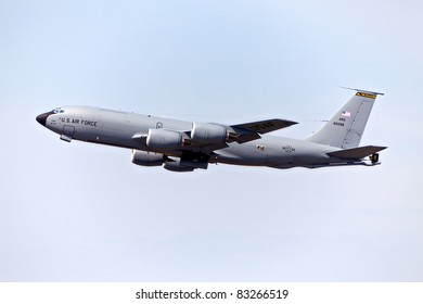 HARRISON TOWNSHIP, MICHIGAN - AUGUST 20: A KC-135 Re-fueling tanker at the Selfridge air show on August 20, 2011 in Harrison Township, Michigan.