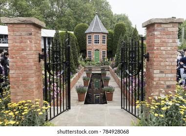 Harrods British Eccentrics Garden by Diarmuid Gavin at RHS Chelsea Flower Show 2016, London, UK - May 2016