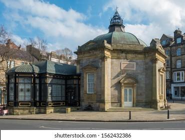 HARROGATE, UK, - MARCH, 30, 2019:  The Royal Pump Rooms in Harrogate, Yorkshire, UK.