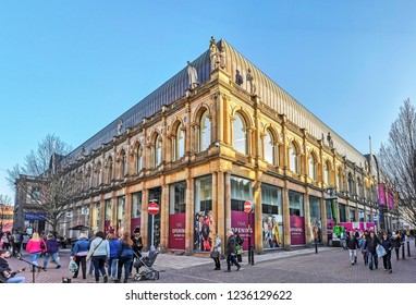 HARROGATE, UK - NOVEMBER 18, 2018: The Victoria Shopping Centre. Harrogate is a spa town in North Yorkshire, England
