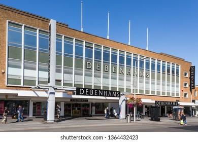 HARROW, GREATER LONDON, UNITED KINGDOM - SEPTEMBER 22 2017 - Debenhams Department Store, Harrow, Exterior