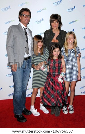 Harry Hamlin with Lisa Rinna and family at the Launch party for 77kids clothing  line by dcdae1a39fff