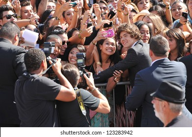 Harry Styles of One Direction at the 2012 MTV Video Music Awards at Staples Center, Los Angeles. September 6, 2012  Los Angeles, CA Picture: Paul Smith