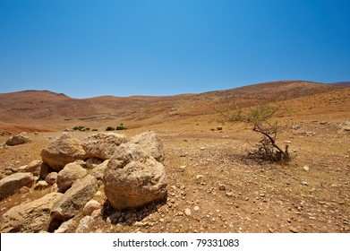 Harsh Mountainous Terrain in the West Bank, Israel