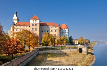 Hartenfels castle in Torgau, a town on the banks of the Elbe in northwestern Saxony, Germany