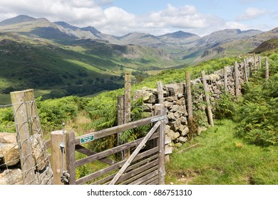 Harter Fell, Hard Knott Pass in the UK Lake District
