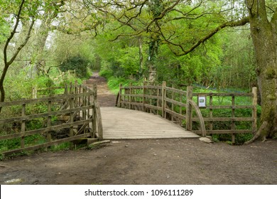 Hartfield, Sussex, England, UK May, 2018 : Pooh Sticks bridge located on the Ashdown Forest near Hartfield.