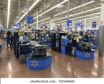Hartford, Connecticut, USA - OCT 23rd 2017: Walmart Departmental Store in Hartford, Connecticut, USA