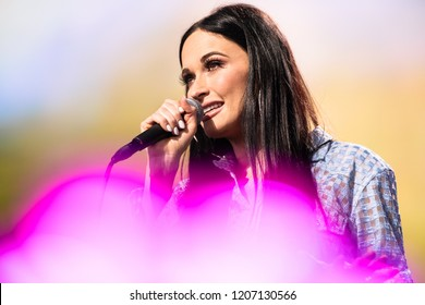 HARTFORD, CT/US - SEPTEMBER 22, 2018: Kacey Musgraves performs onstage at the XFINITY Theatre as part of Farm Aid 2018.