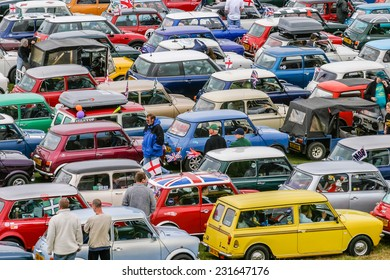HARTLAND, DEVON, UK - August 1st 2010: Mini owners club rally brought together hundreds of the iconic mini-car.