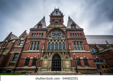 The Harvard Memorial Hall, at Harvard University, in Cambridge, Massachusetts.