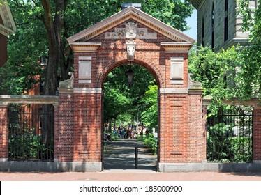 Harvard University, gate to college campus