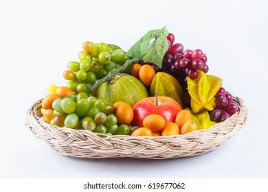 Harvest juicy fruit , illustration isolated on white
