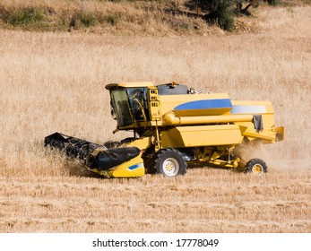 harvesting machine of the wheat