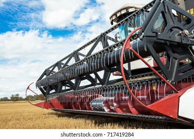 harvests of wheat by harvesters