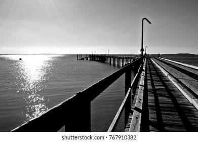 Harvey bay in Black and white