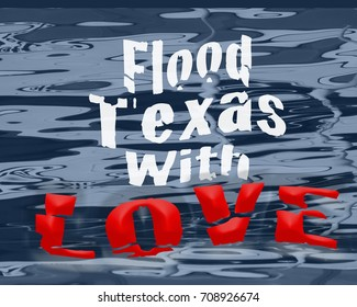 Harvey and Houston flood relief sign