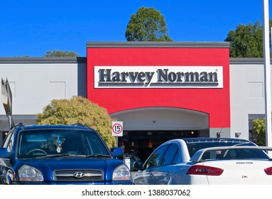 Harvey Norman Store at the Penrith Homemakers Centre, Pattys Place, Penrith, New South Wales, Australia. Photo taken on 4 May 2019.