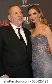 Harvey Weinstein and Georgina Chapman arrive at the Weinstein Company and Netflix 2017 Golden Globes After Party on Sunday, January 8, 2017 at the Beverly Hilton Hotel in Beverly Hills, CA.