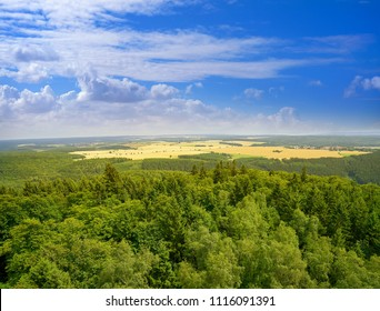Harz mountains aerial view in Germany