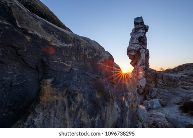 The Harz and its mountains with sunrise