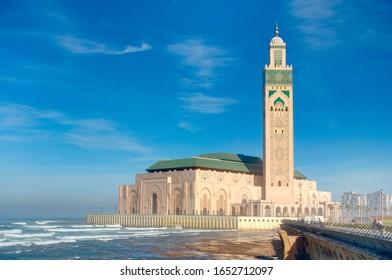 Hasan II Mosque in Casablanca, Morocco