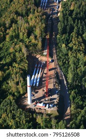 Hasel, construction works for wind farm Glaserkopf, Germany