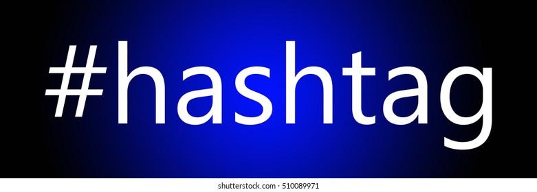 Hashtag popular online symbol for easier searching