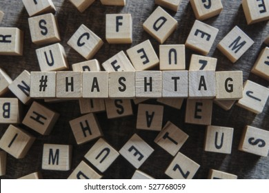 HASHTAG word concept
