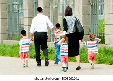 Hasidic Jewish Family