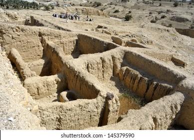 Hasmonean palace ancient remains near Jericho, Israel.