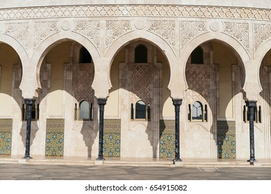 The Hassan II Mosque in Casablanca. It's the largest mosque in Morocco and the 13th largest in the world.