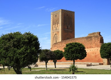 Hassan Tower is the minaret of an incomplete mosque in Rabat, Morocco.
