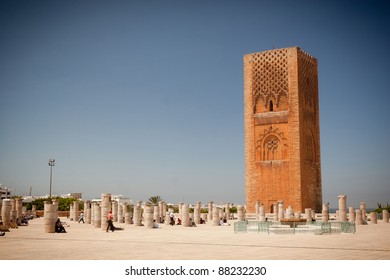 Hassan tower in Rabat, Morocco.