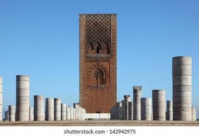 The Hassan Tower (tour hassan) in Rabat, Morocco