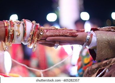 Hasta Melap Ceremony - performed after Kanya Daan has a lot of significance. It involves the tying of the groom's scarf or shawl to the bride's sari. The tying of knot and the joined hands of  couple
