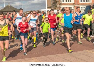 Hastings, East Sussex, UK, 18 March, 2015, Hastings inaugural Parkrun.