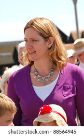 HASTINGS, ENGLAND - JULY 30: Amber Rudd, Conservative party Member of Parliament for Hastings and Rye, attends the launch of the Old Town Carnival Week on July 30, 2011 in Hastings, East Sussex, England. The carnival was founded in 1968.