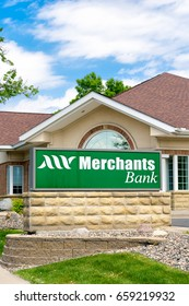 HASTINGS, MN/USA - MAY 14, 2017: Merchants Bank exterior sign and logo. Merchants Bank is a chain of banks in the American Midwest.
