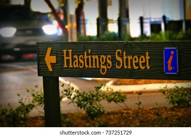 Hastings Street at Night. Noosa Heads Australia