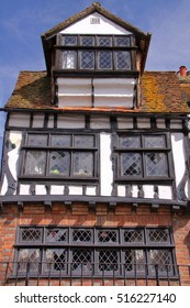 HASTINGS, UK - JUNE 15, 2013: 16th century timbered framed and medieval house in Hastings Old town