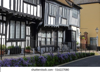 HASTINGS, UK - JUNE 27, 2015: 16th century timbered framed and medieval house in Hastings Old town