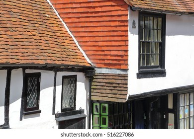 HASTINGS, UK - JUNE 28, 2015: 16th century timbered framed and medieval house in Hastings Old town