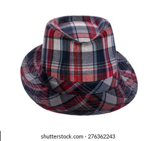 hat with fields in a cage isolated on white background
