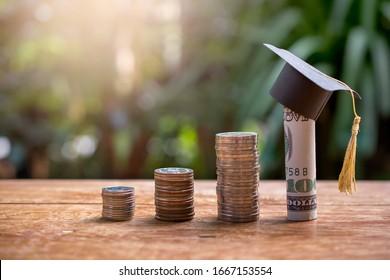 Dieses Graduierungsmodell für Bargeld für Konzeptinvestitionen und Stipendien