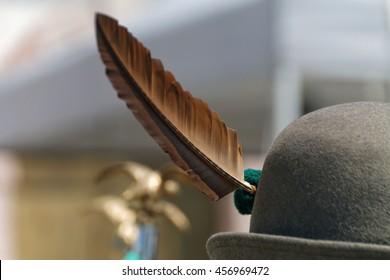 Hat of Italian Alpine soldier